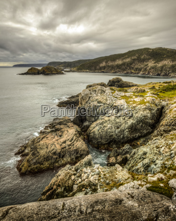 rugged cliffs and rocks along the
