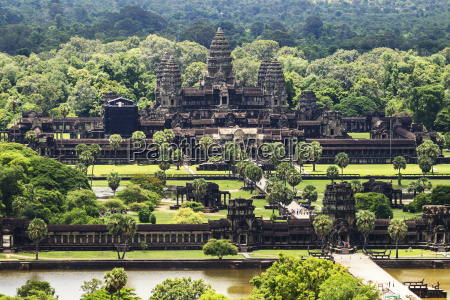aerial view of angkor wat as