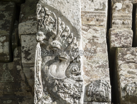 naga bas relief in gopura ii