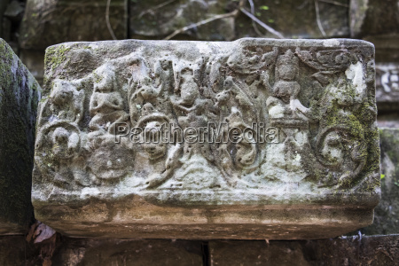 bas relief on a fallen stone