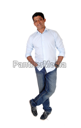 relaxed east indian man standing