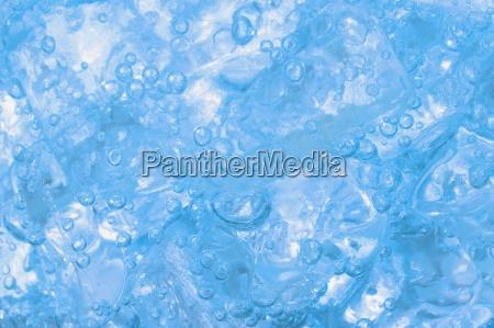 a liquid blue background