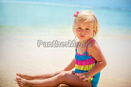 adorable little girl on the beach