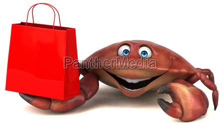 spass krabbe 3d illustration