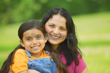 portrait einer mutter und eines kindes