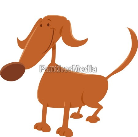 funny dog cartoon character