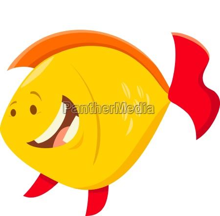 niedlichen cartoon fisch tier charakter