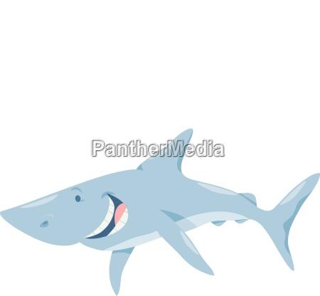 cartoon shark fish animal character