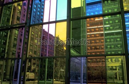 multi colored glass window