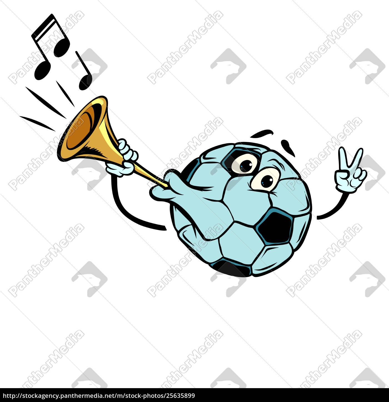 Lizenzfreies Bild 25635899 Fanhorn Lauter Klang Charakter Fussball Fussball Isolieren Auf