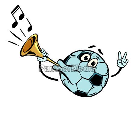 fan horn loud sound character soccer