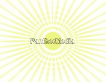 sun beams illustrationen