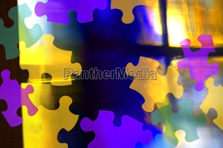 puzzle piece abstract