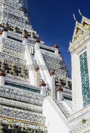 bangkok thailand asia detail of wat