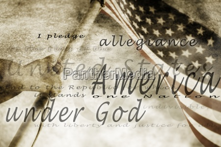 the pledge of allegiance and an