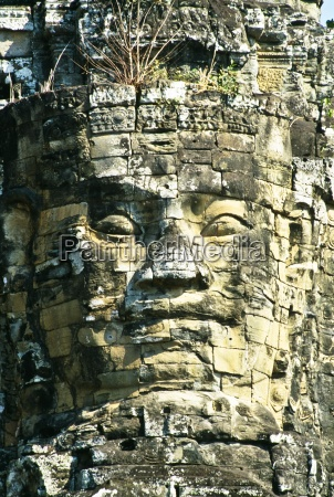 face carved in stone north gate