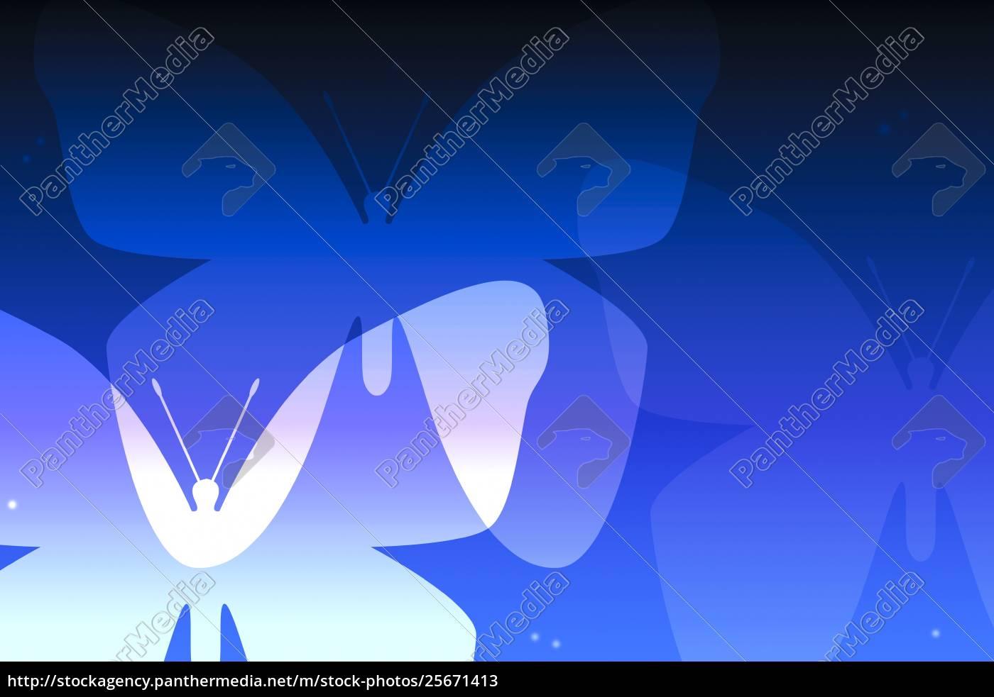 illustration, über, schmetterlinge - 25671413