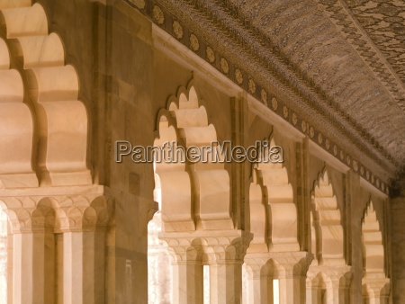 arches in amber fort jaipur india