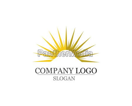 sonnenlogo und symbole sternsymbol web vector