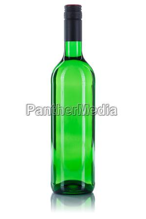 wine bottle white wine green white