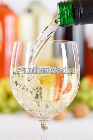 incorporate wine pouring from wine bottle