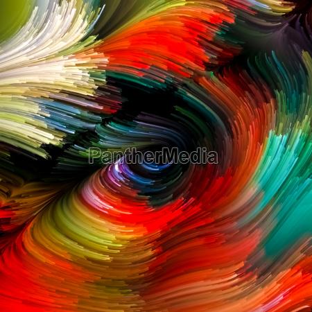 konzeptionelle fluessige farbe