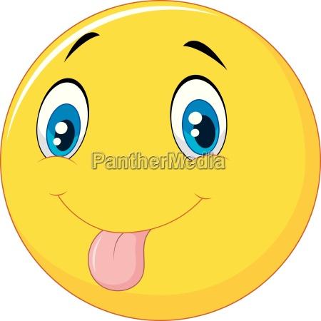 spielerisch emoticon smiley scherzhaft aus der