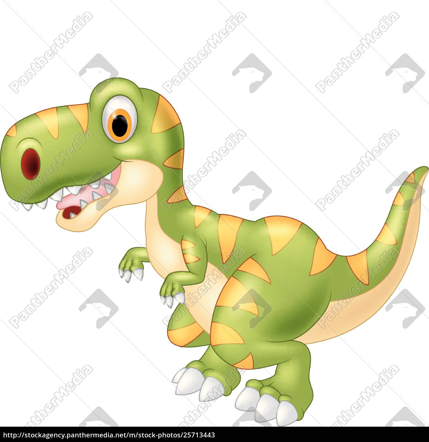Lizenzfreie Vektorgrafik 25713443 Cartoon Entzückenden Dinosaurier