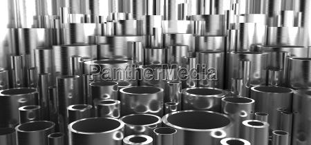 industrial metal pipes