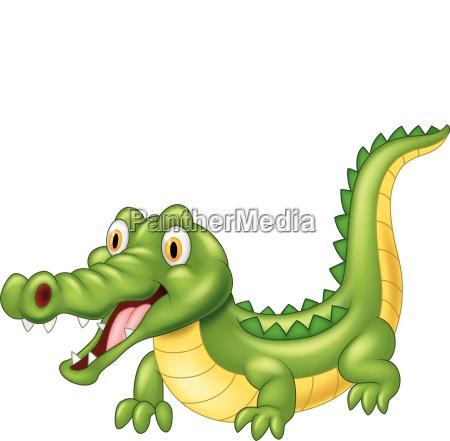 cartoon crocodile with a happy face