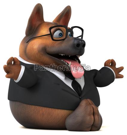 deutscher schaeferhund 3d illustration