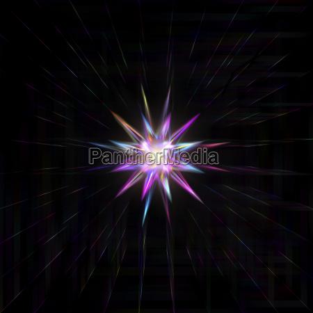 firework explosion star or sunburst in