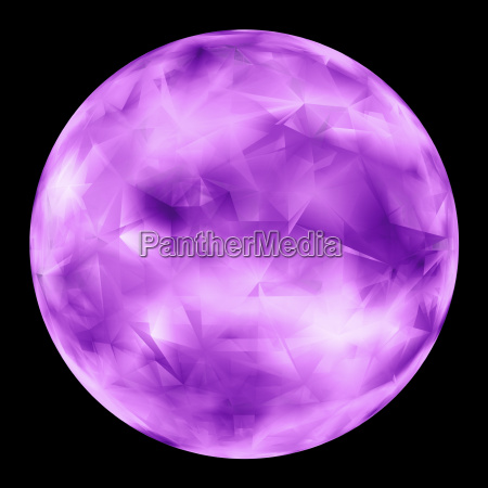 purple glowing orb isolated over black