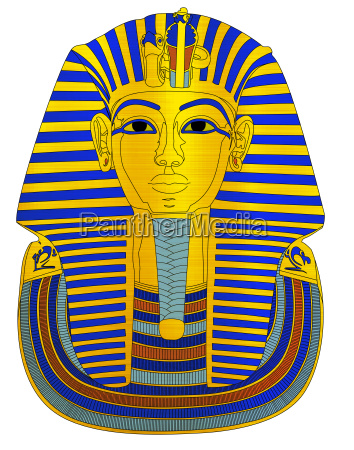 tutanchamun pharaoh metallische illustration grab archaelogy
