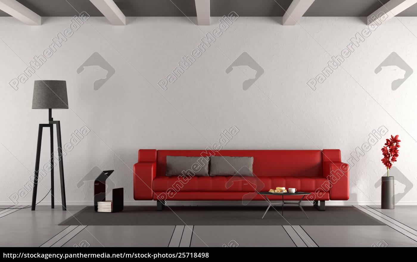 Stock Bild 25718498 Minimalistisches Wohnzimmer Mit Sofa