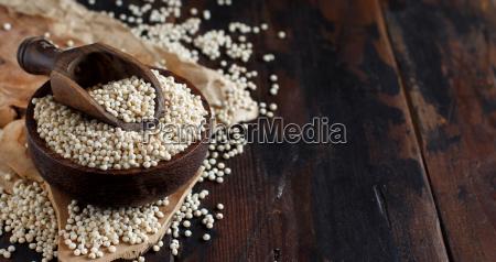 raw white sorghum grain
