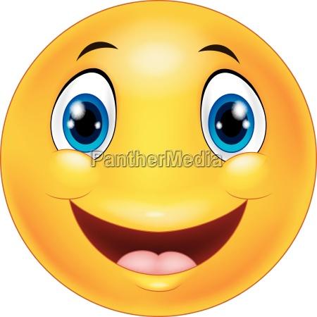 happy smiley emoticon gesicht auf weissem