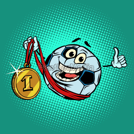 winner first place gold medal character