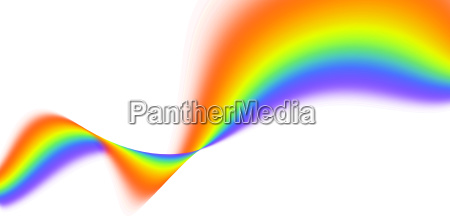rainbow waves abstract sign concept