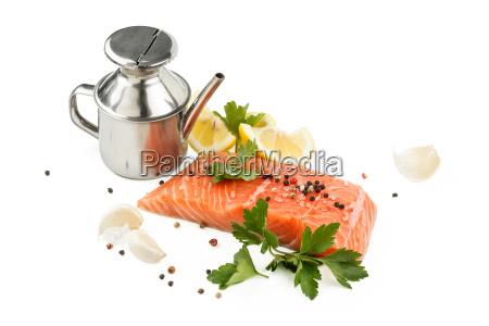 fresh salmon steak