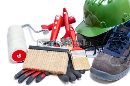 professioneller hausmaler werkzeuge und arbeitsgeraete