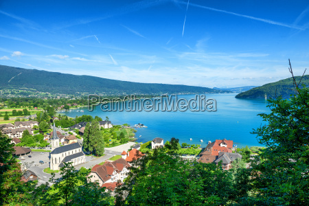 view of annecy lake in french