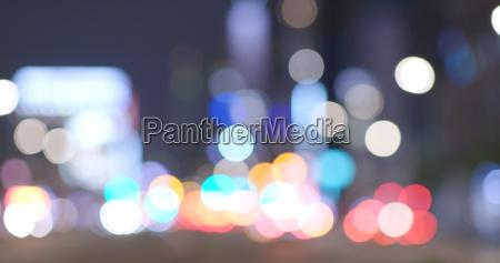 blur city view of taipei city