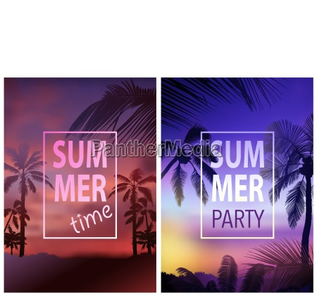 flyer template with tropical background
