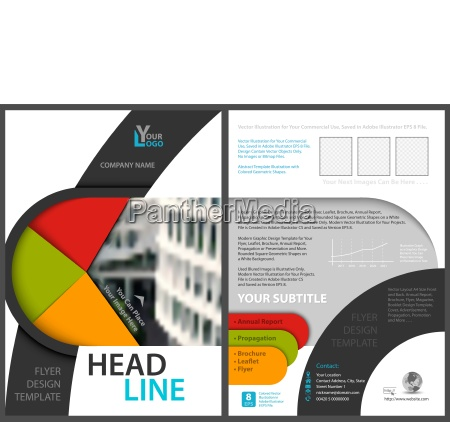 flyer template with modern geometric graphics