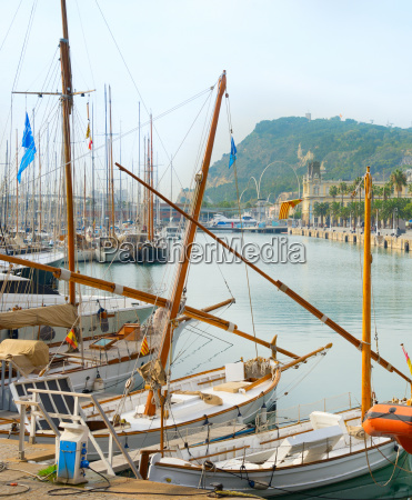 port vell marina barcelona spain