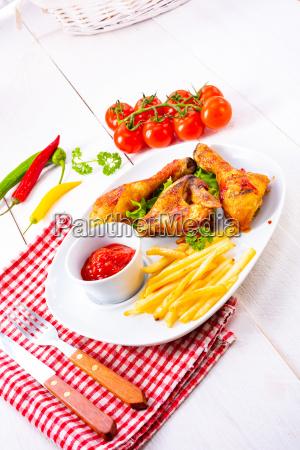 fresh and crispy rustic pork belly