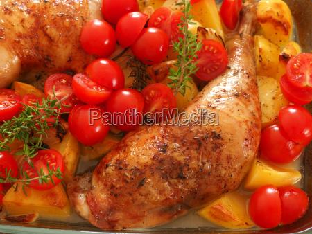 tasty roasted chicken legs