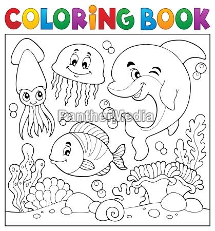 coloring book sea life theme 7