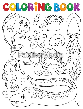 coloring book sea life collection 1